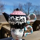 "Personalit-Tea Peggy Turchette Design ""CUTE-TEA"" Tea for One Set - Stacking Teapot Mug!"