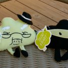 "Hallmark ""Old Farts"" Plush Beanies -Set of 4- Pirate,Cowboy,Ninja & Old Stinker-New with Tags- RARE!"