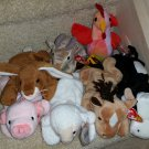 TY BEANIE BABIES - RETIRED - LOT of 7 FARM ANIMAL BEANIES - NEW WITH TAGS!