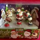 "Joie ""Jingle Rock"" Christmas Cocktail and Wine Glass Charms, Set of 6 by MSC International!"