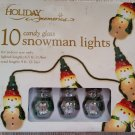 HOLIDAY MEMORIES 10 CANDY GLASS SNOWMAN LIGHTS - FRANK'S NURSERY & CRAFTS - VERY UNIQUE!