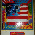 "Vintage PETER MAX ""FLAG"" 550 Piece Jigsaw Puzzle by Ceaco - FACTORY SEALED!"
