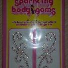 Body Jewelry Sparkling Stick-on Body Crystal Gems - Free Form Swirl - 2 Total designs!