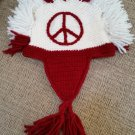 "Artesanias Imbacocha Native Works Hand-Knit Ecuadorian ""Peace Mohawk"" Hat - 100% Wool - EXTRA LARGE!"