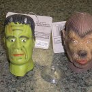 UNIVERSAL MONSTER SHRUNKEN HEADS:FRANKENSTEIN,DRACULA,WOLFMAN,CREATURE FROM THE BLACK LAGOON - NEW!