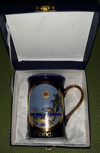 "Vintage CHOKIN ART Fine Porcelain Collectible 10 oz. Mug ""Florida"" - in original gift box!"