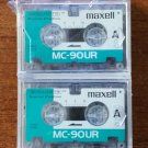 Maxell MC-90UR Micro-cassette tape For dictaphones port - 3 Pack!