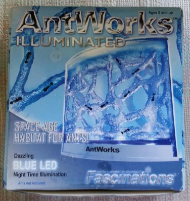 AntWorks Illuminated Habitat for Ants - by Fascinations - Based on a NASA Space Shuttle experiment!
