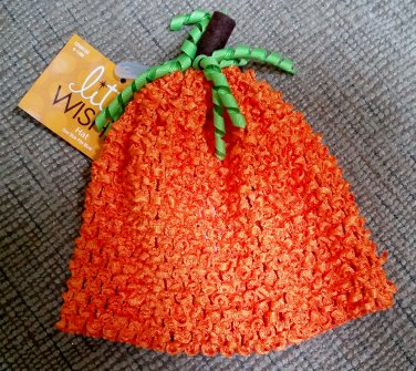 LITTLE WISHES PUMPKIN HAT - 6-18 MONTHS  OSFM - JUST ADORABLE!