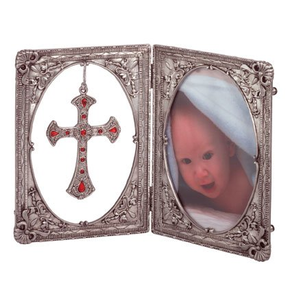 Pewter Cross and Picture Frame