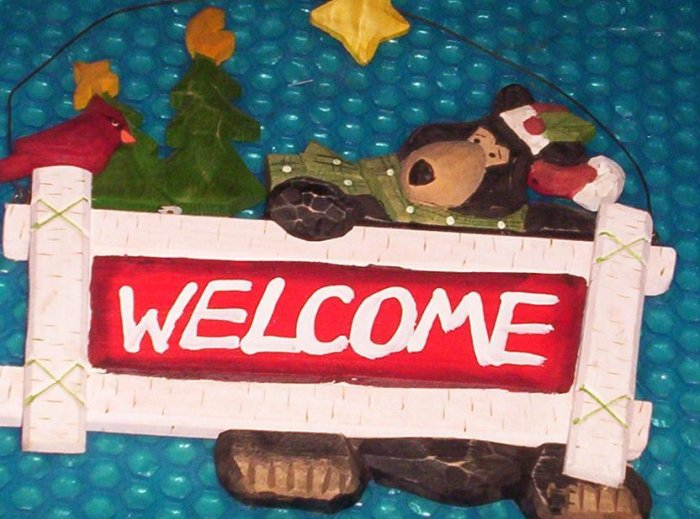 "Christmas Season welcome plaque      9""x11""    (781)"