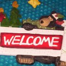 Christmas Season welcome plaque      9&quot;x11&quot;    (781)