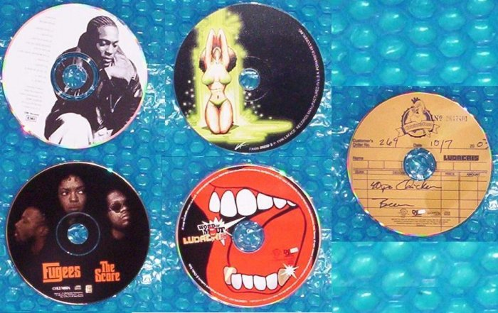 5 CD's     R&B  and Hip Hop,    outkast,  ludacris & more       (853)