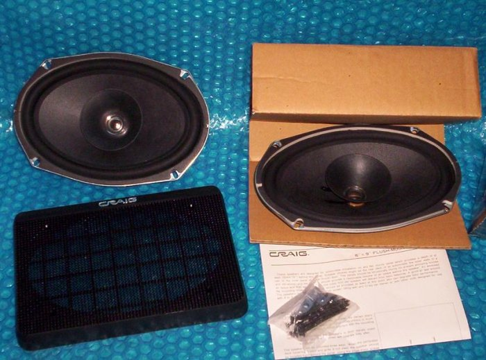 "CRAIG Speakers  6""x9""   stk#(909)"