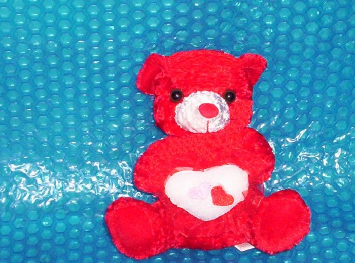 "Red Stuffed  Bear   7""1/2 Tall           stk#(917)"