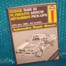 Haynes Dodge Plymouth  Manual  1 85010 536 7 stk#(972)