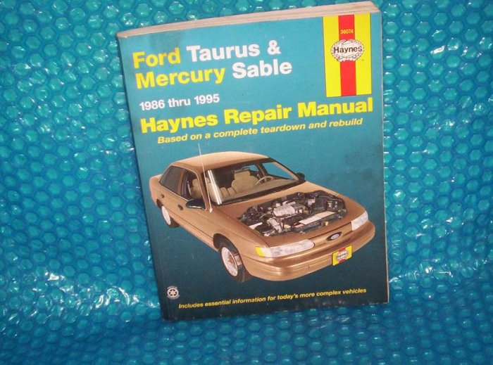 Haynes Taurus & Sable  Manual  1 56392 212 6  (976)
