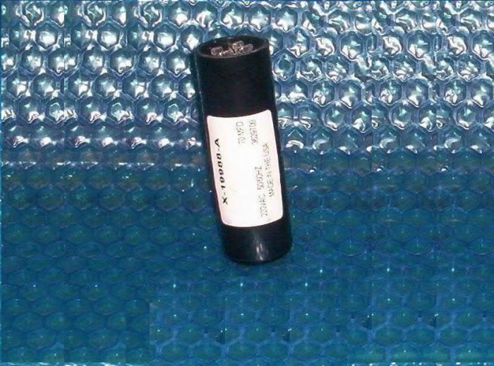 GENIE motor starting capacitor 70mfd. X-19988-A stk#(83)