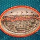"Shipping Port  Decorative Platter 10""x14""   stk#(1006)"