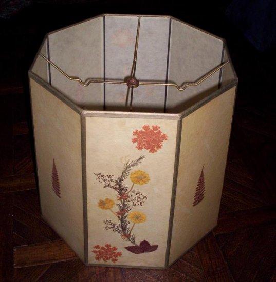 Antique lamp shade  octagonal (1102)
