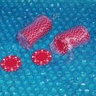 Poker chips Red stk#(2140)