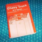 Chevy Truck Owners Manual 1988 stk#(1933)