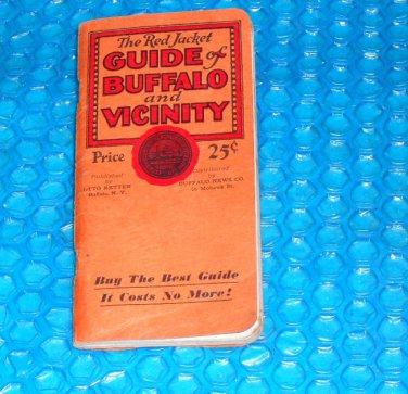 GUIDE to BUFFALO and VICINITY, vintage 1930 stk#(2836)
