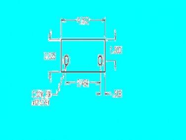 Steel Door Hinge Frame Filler Plate  stk#(2840)