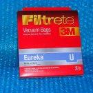 Filtrete Eureka  Vacuum Bag U  67701A  stk#(3015)