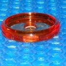 ANTIQUE TAPPAN Stove  Knob  Amber Glass Back Plate  stk#(3082)