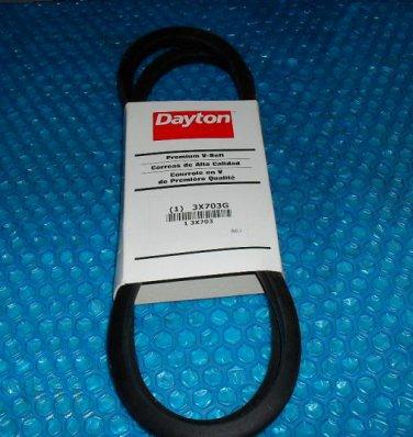 Dayton Premium  V-Belt 3X703G  stk#(3229)