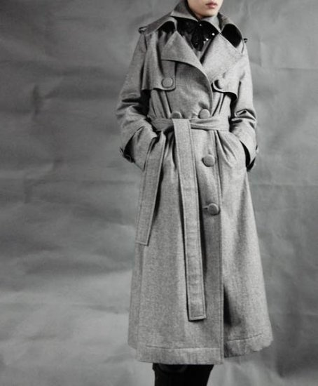 Paletot Grey Woolen Coat