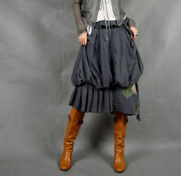 Gray Lotus Skirt