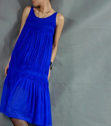 Sheer Blue Silk Jumper Dress