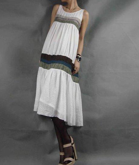 White Peacock Dress
