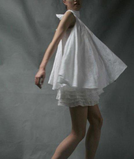 White Halter Mini Dress