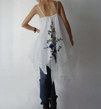 White Embroidery Sun Dress or Skirt