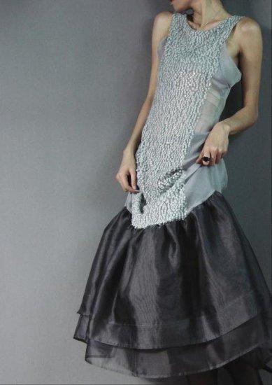 Gray Party Dress Shine Decor