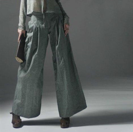Gray Loose Pants