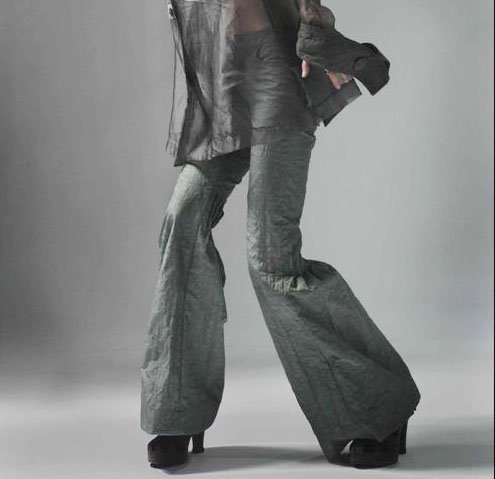 Flared Trousers Gray C