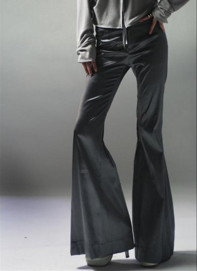 Flared Trousers Dark Gray
