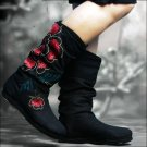 Hand made Fabric Shoes - Black