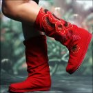 Hand made Fabric Shoes - red