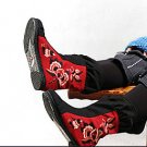Black & Red Floral Fabric Shoes