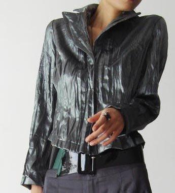 Silver Gray Mini Suit Jacket