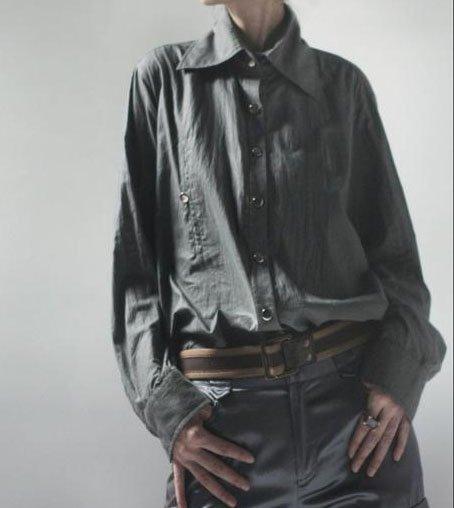 Uni-sex Gray Cotton Blouse