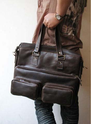 Unisex Notebook Leather Bag Tri Use - Sackpack/ Shoulder Bag/ Tote