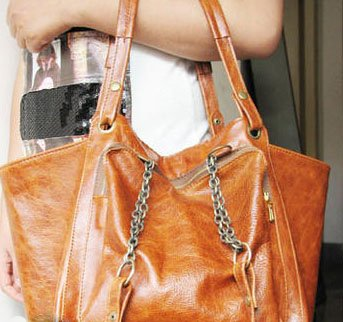 Fancy Style Two-way Carry Bag Genuine Leather