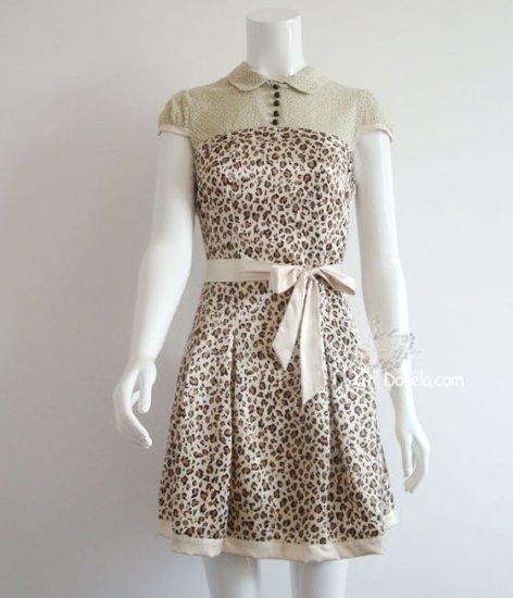 Leopard skin dress 2 colors.