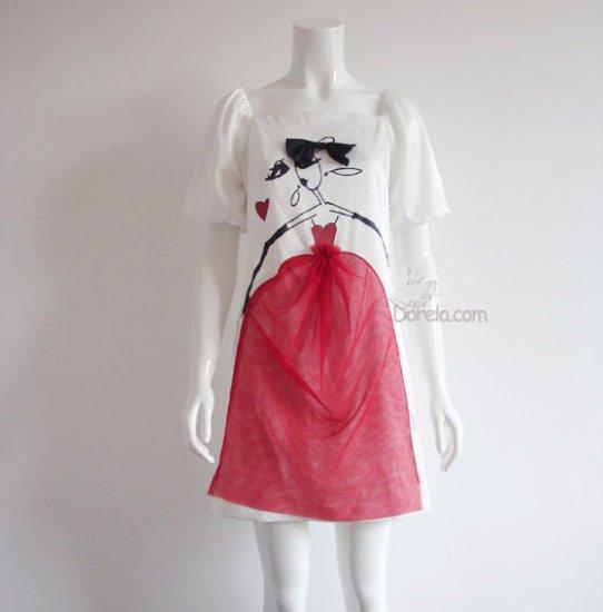 Cute girl silk dress.